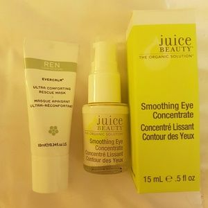 Juice Beauty Eye Concentrate & REN Rescue Mask